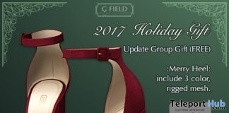 Merry Heels Holiday Pack December 2017 Group Gift by G-Field - Teleport Hub - teleporthub.com