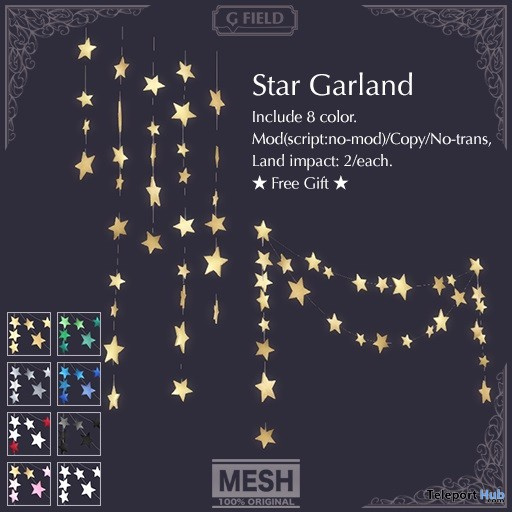 Star Garland For Decor Gift by G-Field - Teleport Hub - teleporthub.com