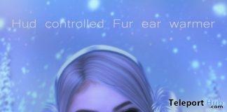 Fur Ear Warmer With HUD December 2017 Group Gift by DarkFire - Teleport Hub - teleporthub.com