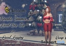 Mercedes Outfit Cinnamon Laced Crop Top & Leggings Christmas 2017 Group Gift by ::BLOSSOM:: - Teleport Hub - teleporthub.com