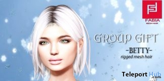 Betty Hair With Hairstyle HUD Christmas 2017 Group Gift by FABIA - Teleport Hub - teleporthub.com