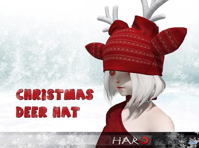 Deer Hat Christmas 2017 Group Gift by HARO - Teleport Hub - teleporthub.com