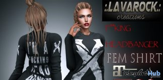 Fcking Head Banger Female Shirt December 2017 Group Gift by Lavarock Creations - Teleport Hub - teleporthub.com