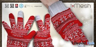 Unisex Bento Gloves Christmas 2017 Group Gift by i.mesh - Teleport Hub - teleporthub.com