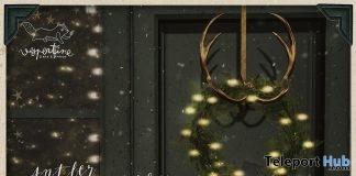 Antler Wreath Holder December 2017 Group Gift by vespertine - Teleport Hub - teleporthub.com