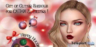 Glitter Eyeshadows For Catwa & Lelutka Head December 2017 Gift by Shiny Stuffs - Teleport Hub - teleporthub.com