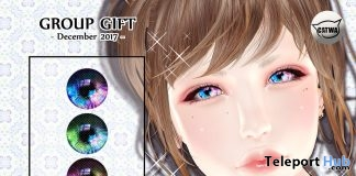 Snow Eyes Classic Layers & Catwa Eye Applier December 2017 Group Gift by petit chambre - Teleport Hub - teleporthub.com