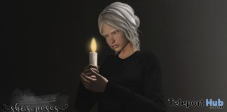 Merry Christmas Single Pose With Candle Prop December 2017 Group Gift by Shi.S - Teleport Hub - teleporthub.com
