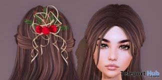 Bekka Hair Brown & Christmas Barrette Christmas 2017 Group Gift by Limerence - Teleport Hub - teleporthub.com