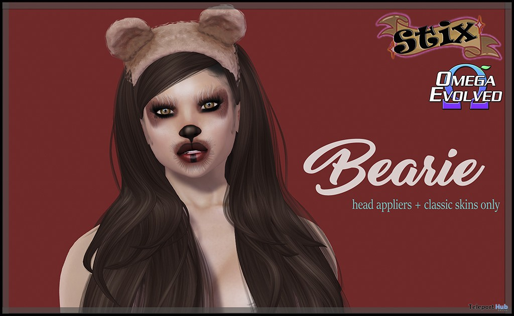 Bearie Skin Omega Evolved Applier December 2017 Gift by Stix - Teleport Hub - teleporthub.com
