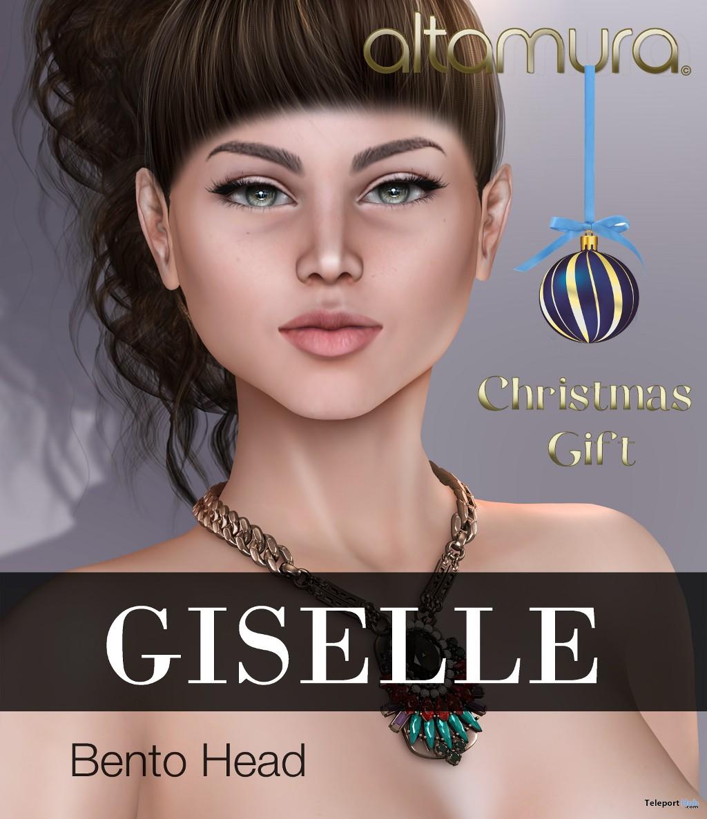 Giselle Bento Head Christmas 2017 Group Gift by Altamura - Teleport Hub - teleporthub.com