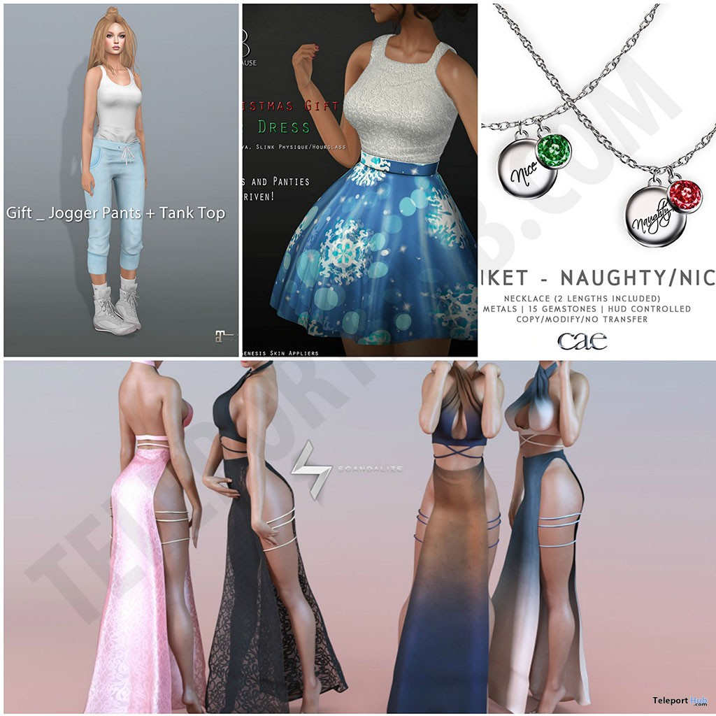 Several Christmas 2017 Group Gifts At FaMESHed December 2017 by Various Designers - Teleport Hub - teleporthub.com