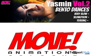 New Release: Yasmin Vol. 2 Bento Dance Pack by MOVE! Animations Cologne - Teleport Hub - teleporthub.com