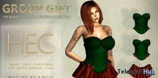 Mary Sexy Christmas Outfit December 2017 Group Gift by HEC - Teleport Hub - teleporthub.com