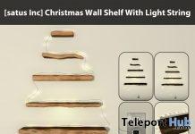 New Release: Christmas Wall Shelf With Light String by [satus Inc] - Teleport Hub - teleporthub.com