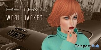 Retro Wool Jacket Ocean December 2017 Group Gift by {Poeme} - Teleport Hub - teleporthub.com