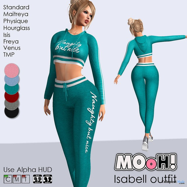 Isabell Outfit January 2018 Group Gift by MOoH! - Teleport Hub - teleporthub.com