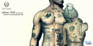 Tattoo 1550 Unisex January 2018 Group Gift by CHAT NOIR - Teleport Hub - teleporthub.com