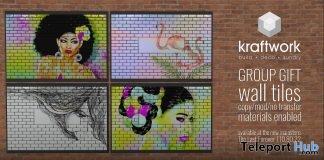 Wall Tiles Sweet Woman January 2018 Group Gift by KraftWork - Teleport Hub - teleporthub.com
