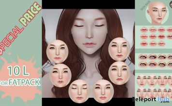 Takaru Mesh Head With Makeup Options Fatpack 10L Promo Gift by Baotaom - Teleport Hub - teleporthub.com