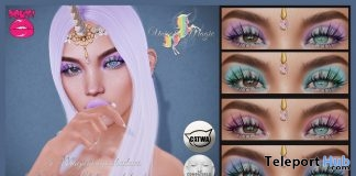Unicorn Magic Eye Shadow For Catwa & Lelutka Heads January 2018 Group Gift by POUT! - Teleport Hub - teleporthub.com