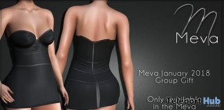 Mini Dress January 2018 Group Gift by Meva - Teleport Hub - teleporthub.com