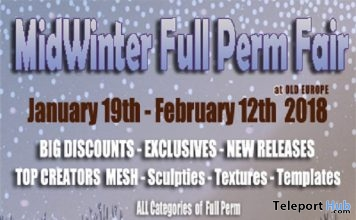 The Mid Winter Full Perm Fair at Old Europe 2018 - Teleport Hub - teleporthub.com