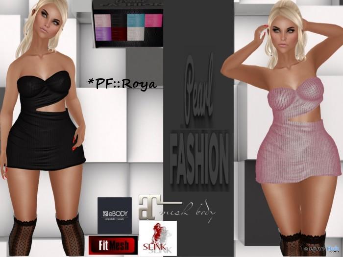 Roya Dress January 2018 Group Gift by Pearl Fashion - Teleport Hub - teleporthub.com