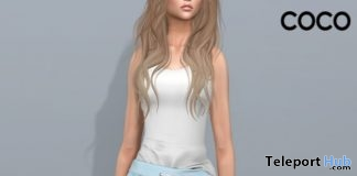 Tank Top & Light Blue Jogger Pants January 2018 Group Gift by COCO Designs - Teleport Hub - teleporthub.com