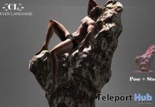 Male Pose & Stone Prop D23 Event Gift by Clever Language - Teleport Hub - teleporthub.com