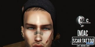Scar Tattoo For Catwa Head D23 Event 1L Promo Gift by [M]AC - Teleport Hub - teleporthub.com