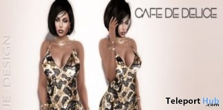 Cafe De Delice Dress January 2018 Group Gift by MH Unique Design - Teleport Hub - teleporthub.com