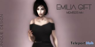 Emilia Dress January 2018 Group Gift by MH Unique Design - Teleport Hub - teleporthub.com