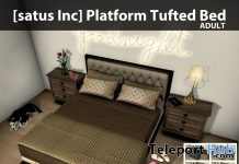New Release: Platform Tufted Bed by [satus Inc] - Teleport Hub - teleporthub.com
