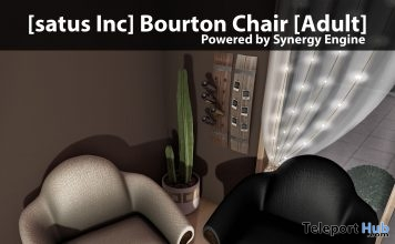 New Release: Bourton Chair [Adult] & [PG] by [satus Inc] - Teleport Hub - teleporthub.com