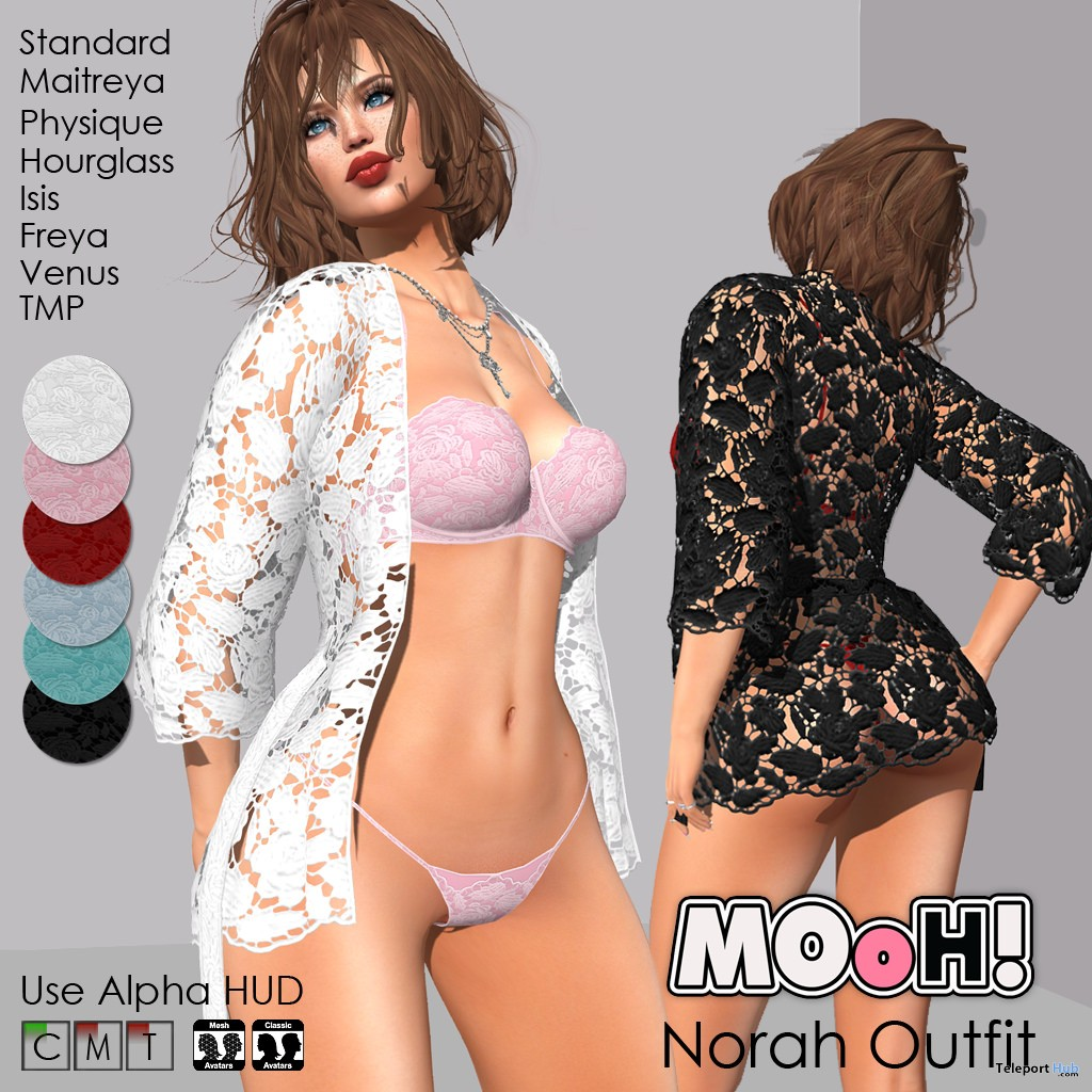Norah Outfit Fatpack February 2018 Group Gift by MOoH! - Teleport Hub - teleporthub.com