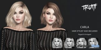 Carla Hair Fatpack With Style HUD February 2018 Group Gift by TRUTH HAIR - Teleport Hub - teleporthub.com