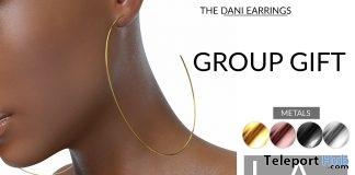 The Dani Earrings February 2018 Group Gift by LANA - Teleport Hub - teleporthub.com
