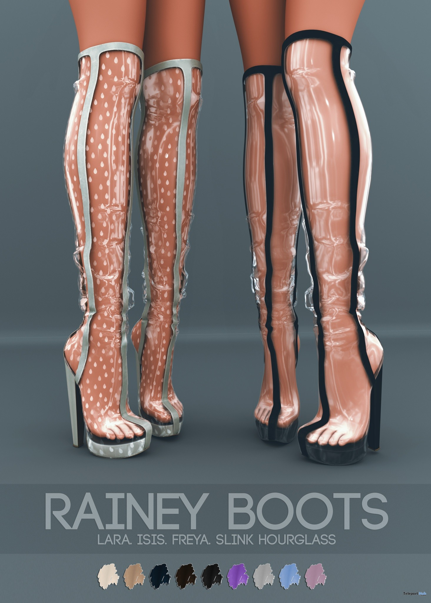 New Release: Rainey Boots Fatpack by Pure Poison @ Collabor88 February 2018 - Teleport Hub - teleporthub.com