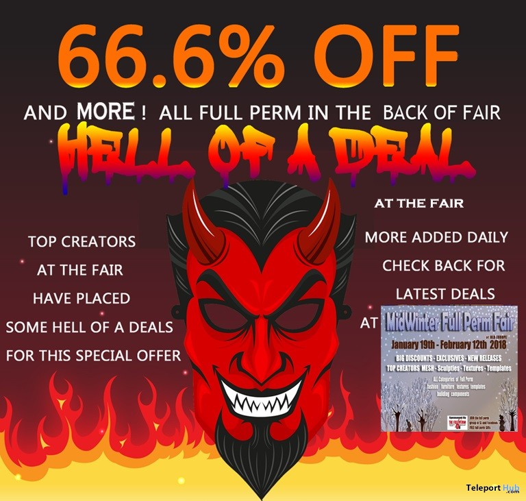 The HELL OF A DEAL 66% OFF Full Perm Event - Teleport Hub - teleporthub.com