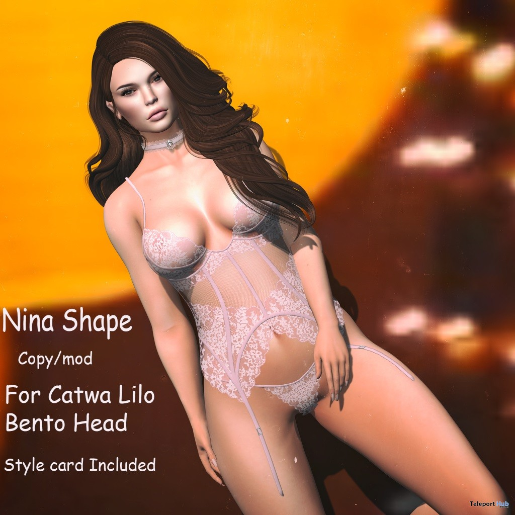 Nina Shape With Style Card February 2018 Group Gift by Cree-moi - Teleport Hub - teleporthub.com
