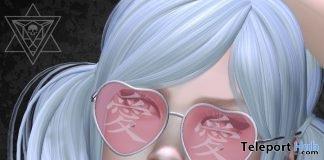 Amora Glasses February 2018 Group Gift by Psycho Barbie - Teleport Hub - teleporthub.com