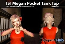 New Release: [S] Megan Pocket Tank Top With Free Blue High Waisted Jeans by [satus Inc] - Teleport Hub - teleporthub.com