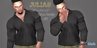 Marcus Sweater February 2018 Group Gift by Julia's Scandal - Teleport Hub - teleporthub.com