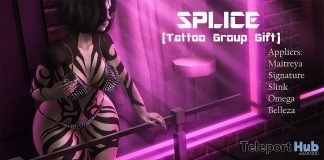 Spilce Body Tattoo With Mesh Body Appliers February 2018 Group Gift by IMMODEST - Teleport Hub - teleporthub.com
