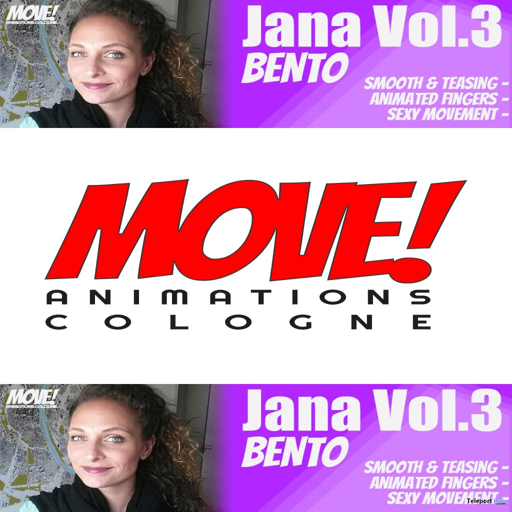 New Release: Jana Vol 3 Bento Dance Pack by MOVE! Animations Cologne - Teleport Hub - teleporthub.com
