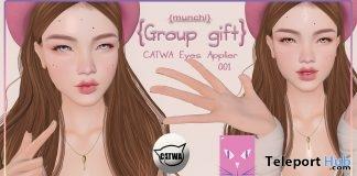 Catwa Eyes Applier 001 February 2018 Group Gift by {munchi} - Teleport Hub - teleporthub.com