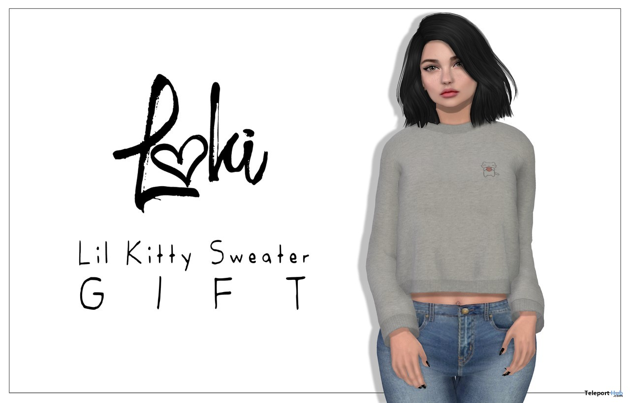 Lil Kitty Sweater Teleport Hub Group Gift by Loki - Teleport Hub - teleporthub.com