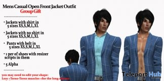Mens Casual Open Front Jacket Outfit March 2018 Group Gift by AmAzIng CrEaTiOnS - Teleport Hub - teleporthub.com
