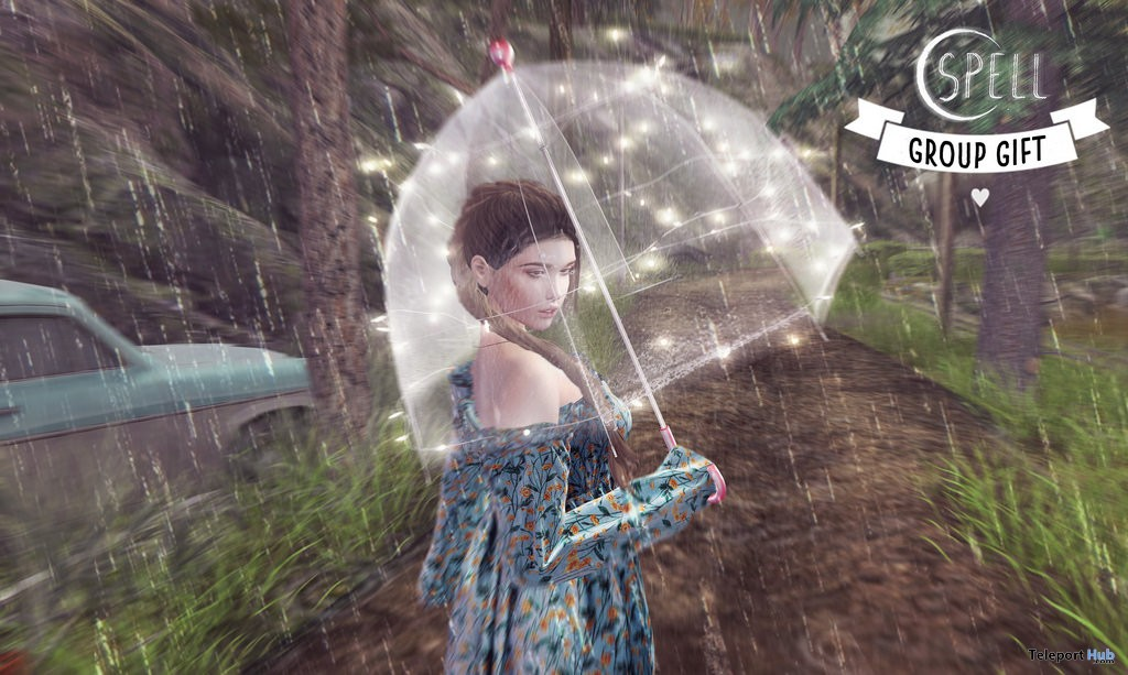 Llueve Con Sol Umbrella March 2018 Group Gift by SPELL - Teleport Hub - teleporthub.com
